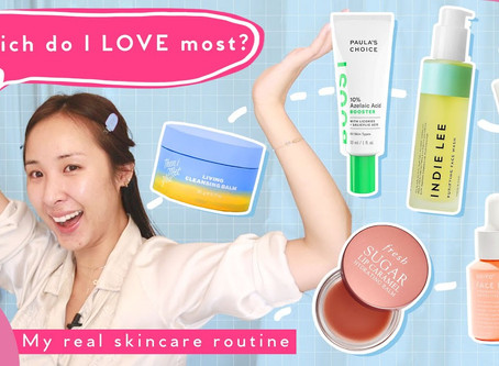 Day + Night Skincare Routine For Oily Skin & Sensitive Skin