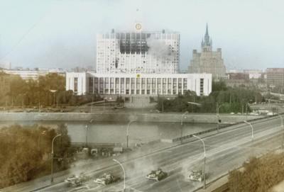 俄聯邦軍隊炮轟俄白宮,1993年俄羅斯憲政危機的標誌性事件