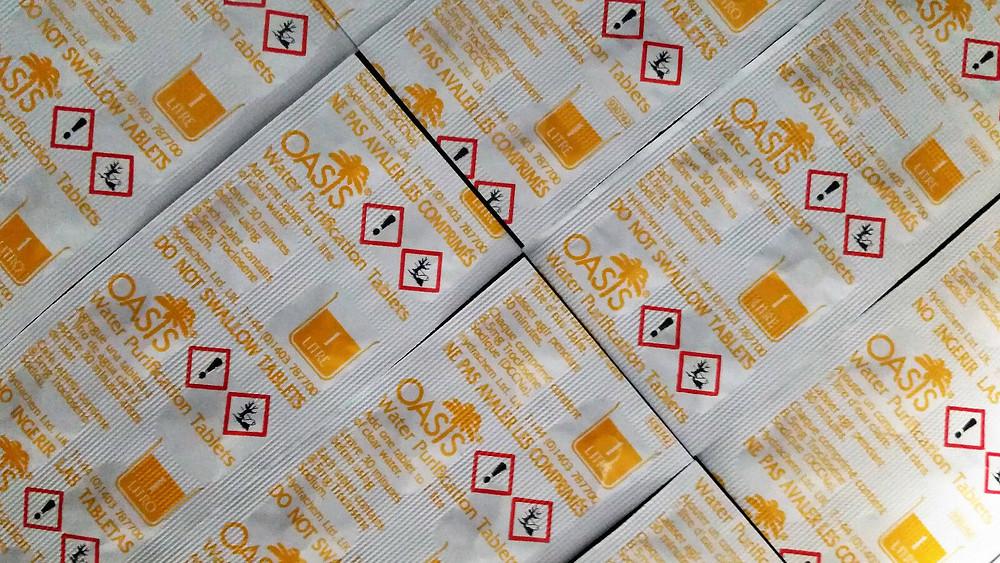 30x 英國軍用Oasis水淨化片