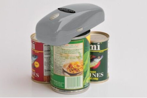 自動開罐器 Automatic Handy Can Opener GRAY Easy One Touch Battery-Operated