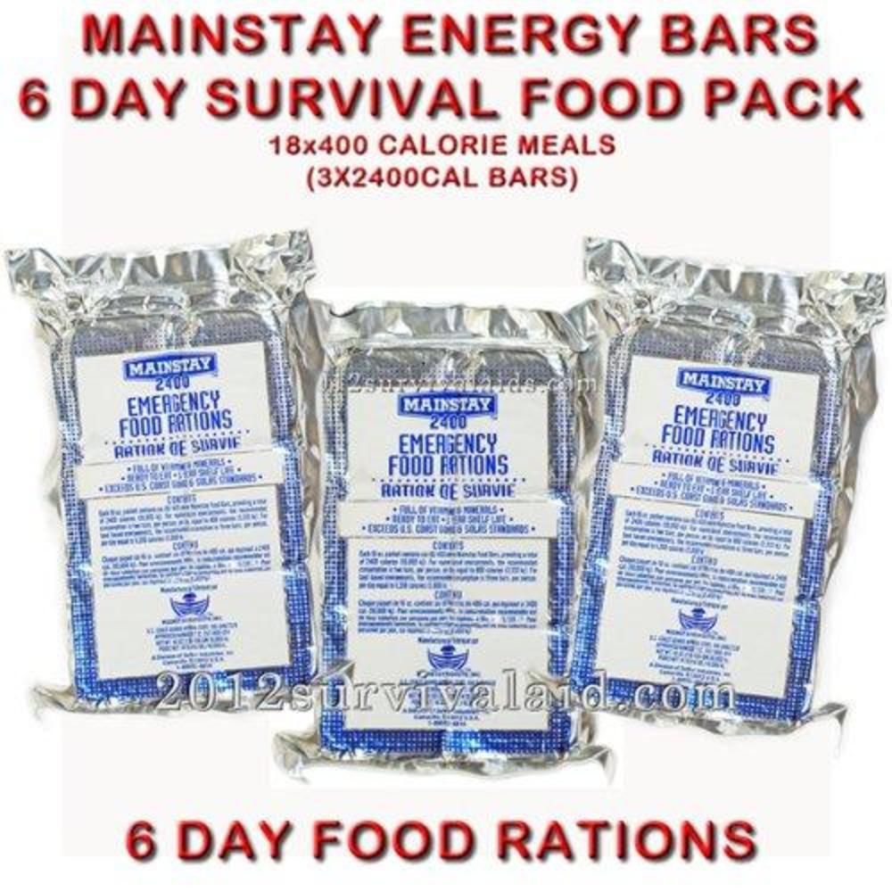 軍用緊急2天食物 SOS Mainstay 2400 Calorie Emergency Food - Certified By U.S Coast Guard