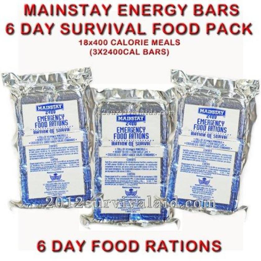 軍用緊急食物 SOS Mainstay 2400 Calor