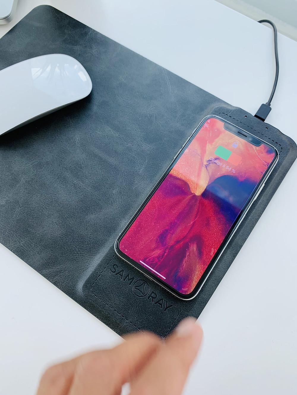 2合一手機充電器 滑鼠墊