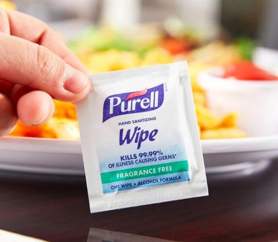 Purell® 洗手濕巾 美國醫院首選 酒精殺菌配方
