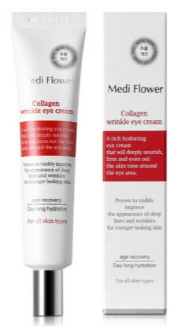 韓國防皺眼霜 MediFlower - Collagen Wrinkle Eye cream 40ml