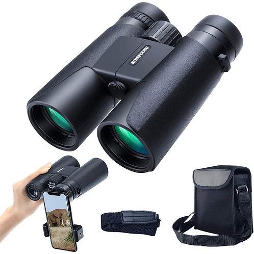 12x42 便攜式、防水雙筒望遠鏡 有夜視功能 Portable & Waterproof Compact Binoculars w/ Night Vision