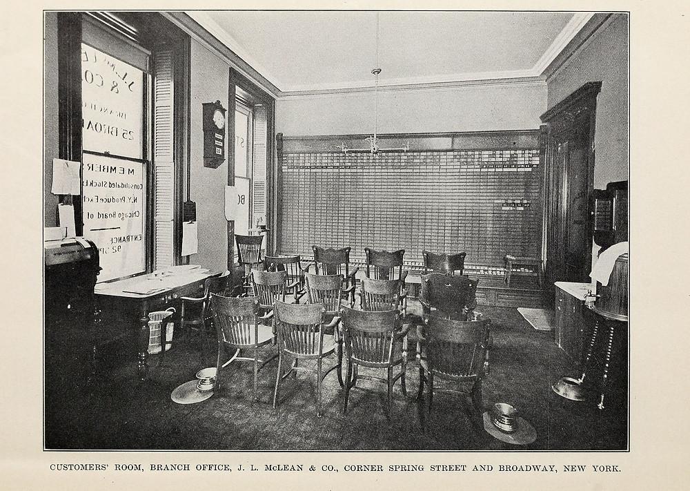 1902年華爾街看盤室