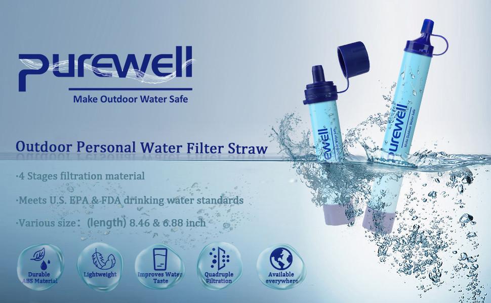 Purewell 戶外過濾淨水吸管 功效99.9999%