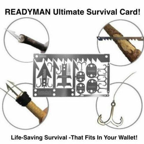 美國 READYMAN 荒野生存卡 - 戶外生存必備