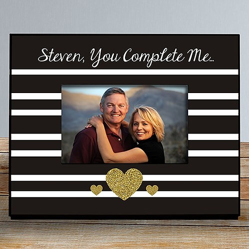 Personalized Gold heart Love Frame