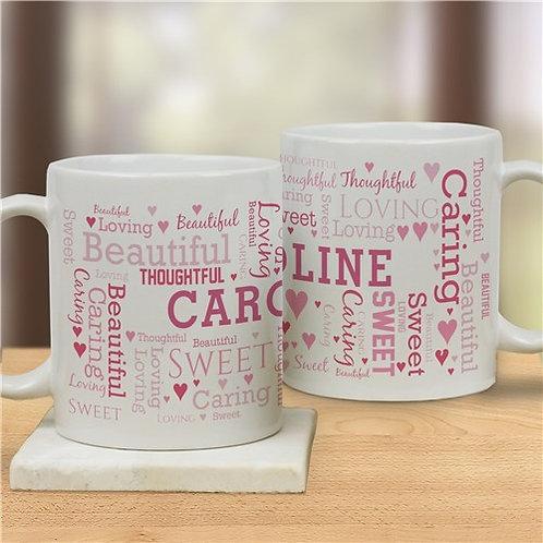 Word Art Love Coffee Mug