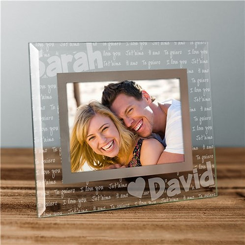 I Love You Personalized Glass Frame