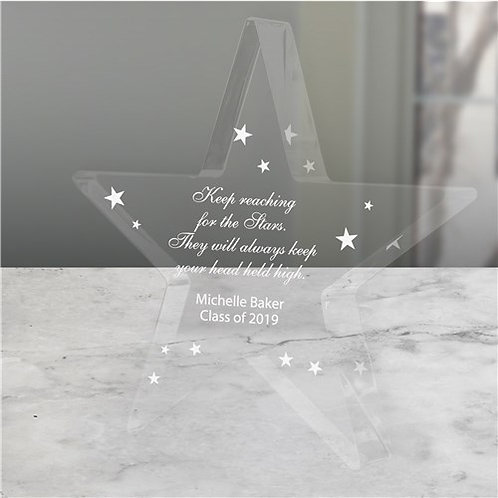 Personalized Graduation Star Keepsake