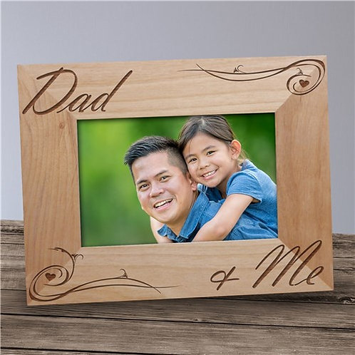 Engraved Dad and Me Picture Frame