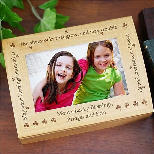 Personalized Irish Blessing Photo Keepsake Box