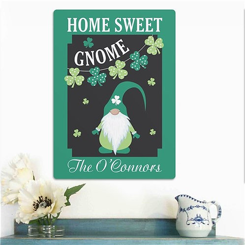 Personalized Home Sweet Gnome Wall Sign
