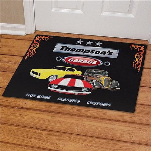 My Garage Personalized Doormat