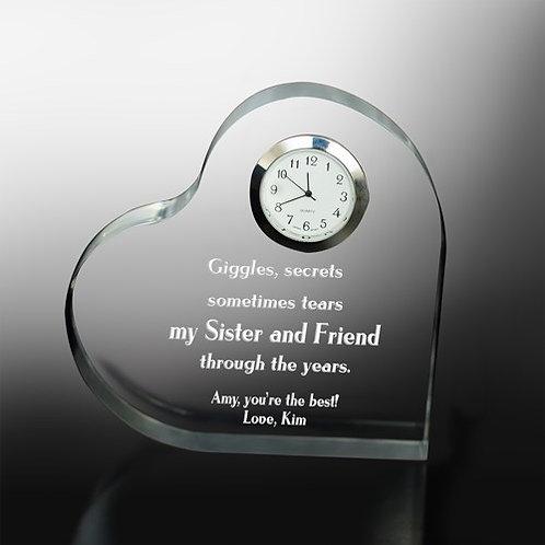 Through the Years Keepsake Heart Clock