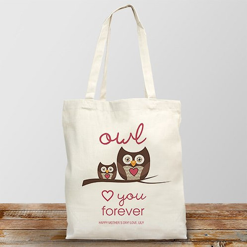 Personalized Love You Forever Tote Bag