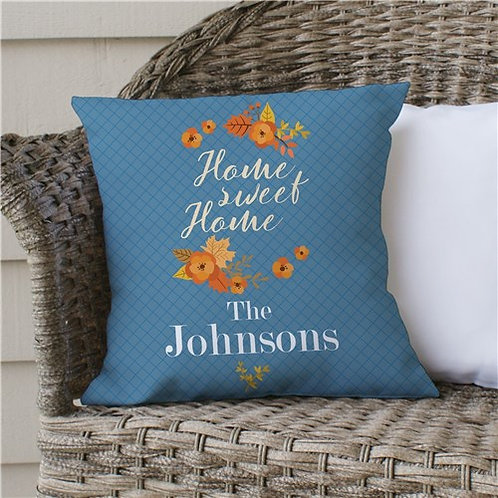 Personalized Home Sweet Home Throw Pillow