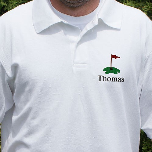 Hole In One Golf Polo Embroidered with Name