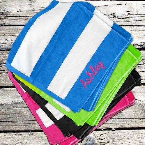 Personalized Striped Beach Towel