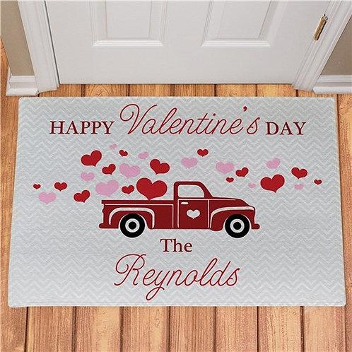 Personalized Happy Valentines Day Truck Doormat