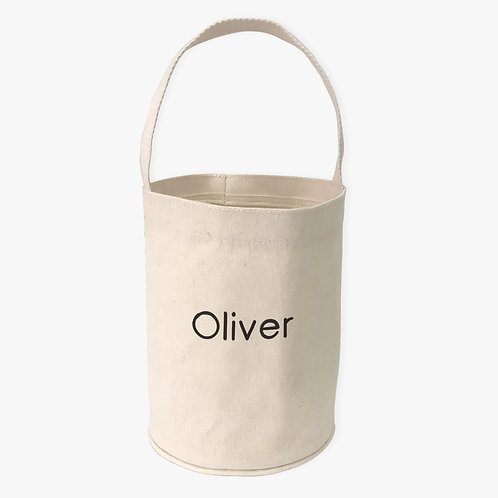 Personalized Canvas Mini Tote Bucket for Kids