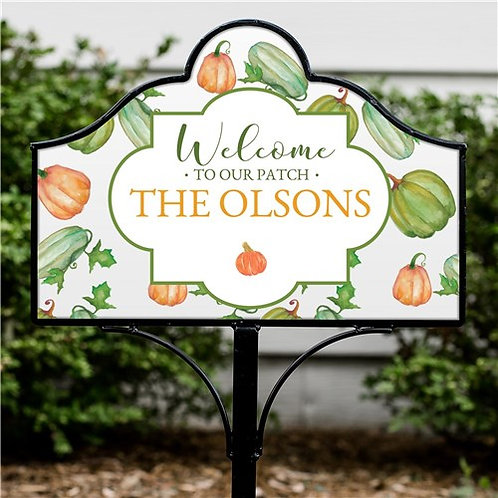 Personalized Welcome To Our Patch Magnetic Yard Sign