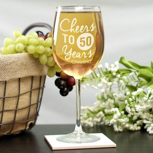 Birthday Wine Glass