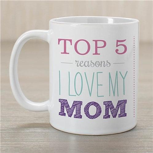 Top 5 Reasons Mom Mug