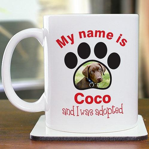 Personalized Adopted Pet Photo Mug