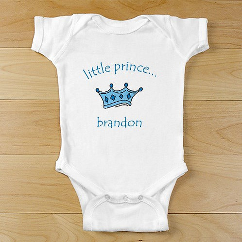 Little Prince Personalized Baby Bodysuit
