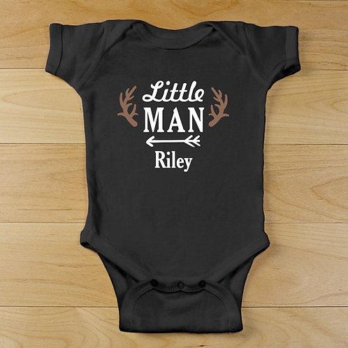 Personalized Little Man Bodysuit