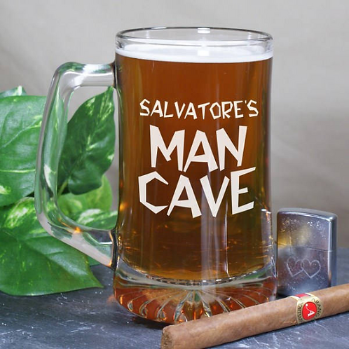 Man Cave Sports Glass Mug