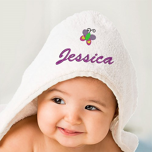Embroidered Icon Hooded Baby Towel