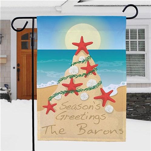 Beach Christmas Flag