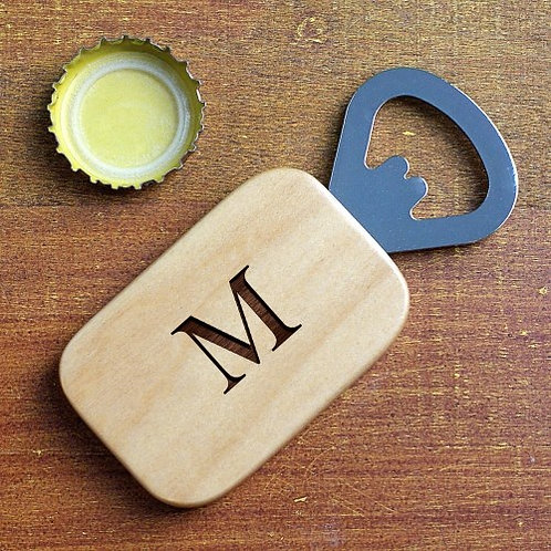 Bottle opener with one Initial