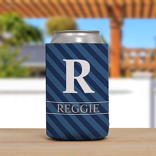 Personalized Name and Initial Can Cooler