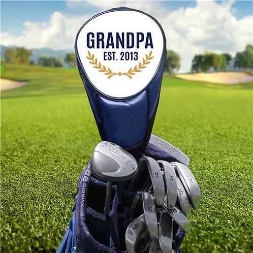 Embroidered Grandpa Golf Club Cover
