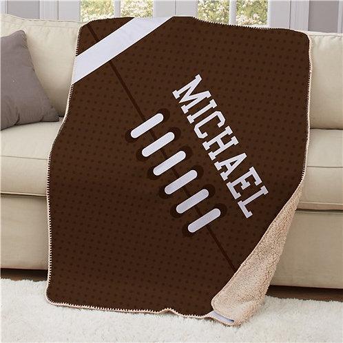 Personalized Football Sherpa Blanket