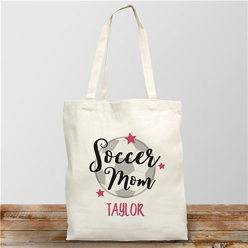 Personalized Soccer Mom Tote Bag