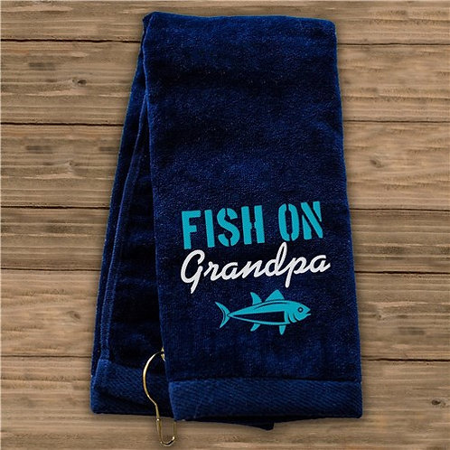 Personalized Fish on Grandpa Towel