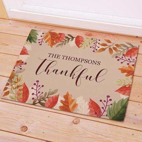 Personalized Thankful Doormat