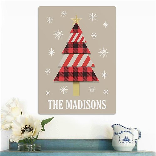 Personalized Christmas Tree Wall Sign