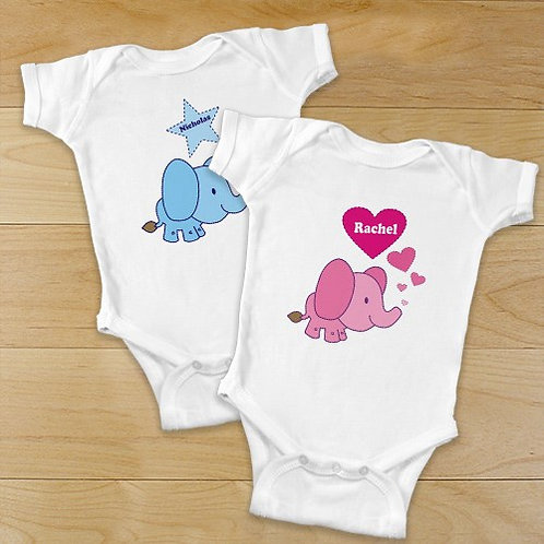 Elephant Baby One Piece