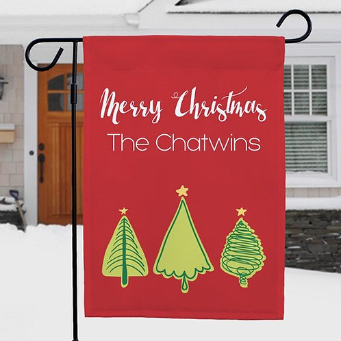 Christmas Tree Personalized Garden Flag