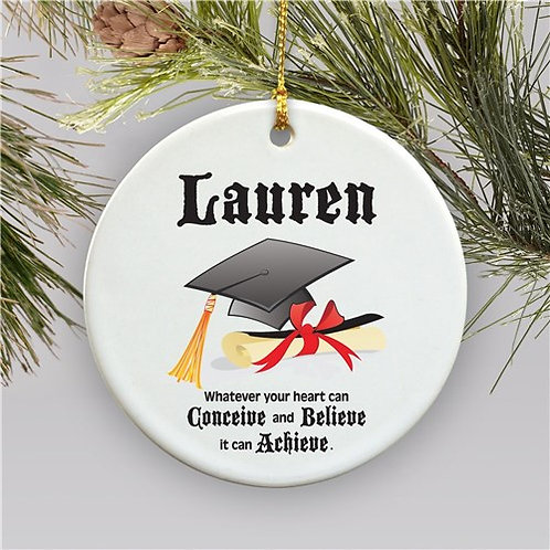 Personalized Ceramic Graduation Christmas Ornament