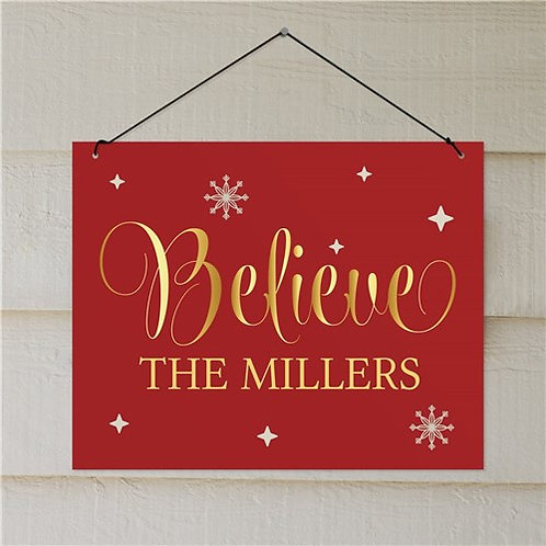 Personalized Believe Wall Sign
