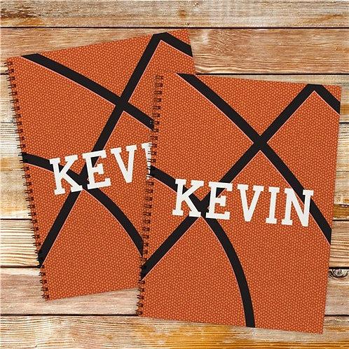 Personalized Basketball Notebook Set